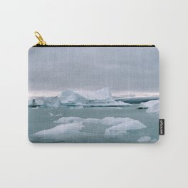 ICELAND WITH ICEBERGS IS INCREDIBLE ICY Carry-All Pouch