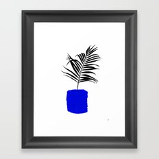 Blue Pot Framed Art Print