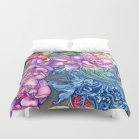 orchid Duvet Covers featuring Orchid Splash by Vikki Salmela