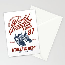 World Greatest Runner Stationery Cards