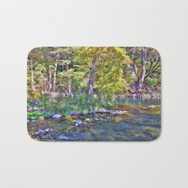 Guadalupe River, Texas Hill Country Bath Mat