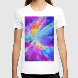 Watercolor Painting of Nebula T-shirt