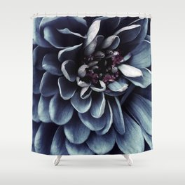 moody blue floral Shower Curtain