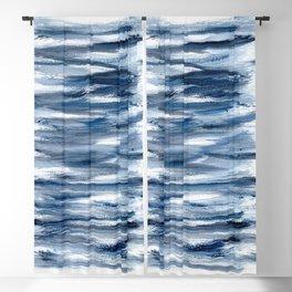 Just Indigo 2 | Minimalist Watercolor Blackout Curtain