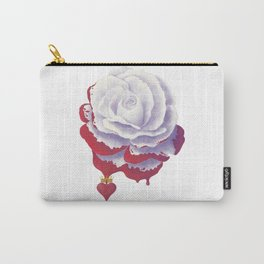 Painted Rose cut out Carry-All Pouch