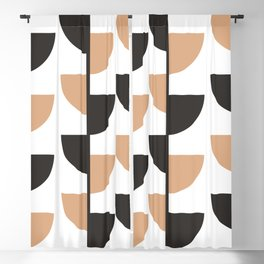 Slices - Caramel and Black Coffee Blackout Curtain