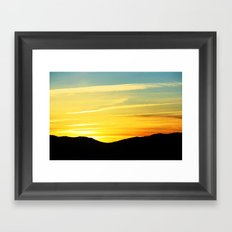 Reno Sunrise Framed Art Print