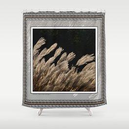 YAKU JIMA GRASS IN BACKLIT SUN Shower Curtain