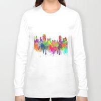 new york Long Sleeve T-shirts featuring NEW YORK, NEW YORK by mark ashkenazi