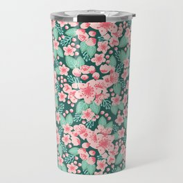 Cherry Blossom spring summer boho floral flower gardening nature botanical nature flowers florals Travel Mug