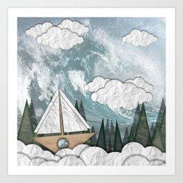 Paper Boat Art Print