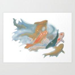 koi {white} Art Print