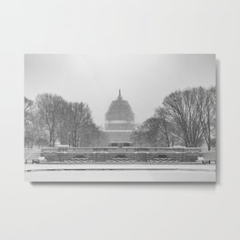 Capitol in the Snow Metal Print