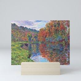 Le bras de Jeufosse, Autumn by Claude Monet Mini Art Print