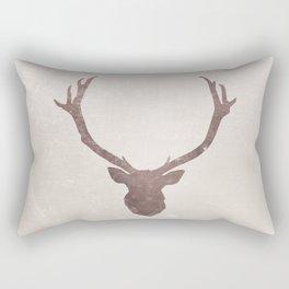 Deer stag silhouette grunge design Rectangular Pillow
