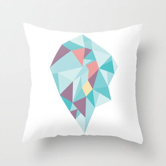 Facet vector II Throw Pillow