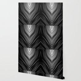 stripes wave pattern 3 bwbi Wallpaper