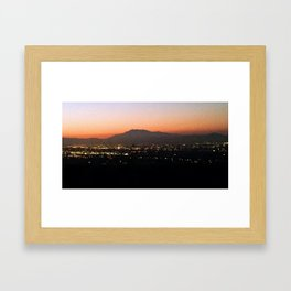 Hazy night Framed Art Print