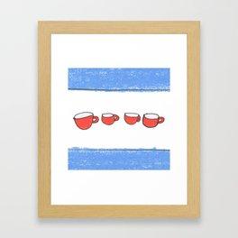 Chicago mugs Framed Art Print