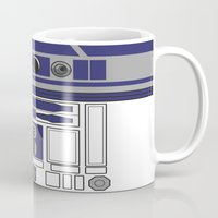 starwars Mugs featuring R2D2 - Starwars by Alex Patterson AKA frigopie76
