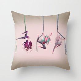 Aerial acrobats Throw Pillow