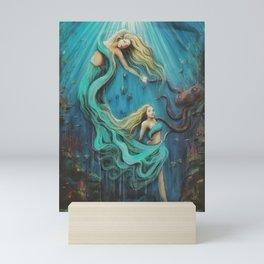 The Mermaid's Gift Mini Art Print