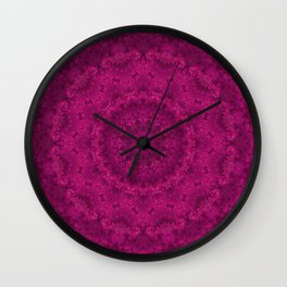 Purple Kaleidoscope. Wall Clock