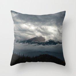 Pikes Peak Sneak Peek Throw Pillow
