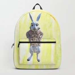 White Rabbit shares his wisdom Backpack