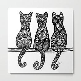 Kitty Trio Metal Print