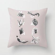 Botanica Letters | Powder Throw Pillow