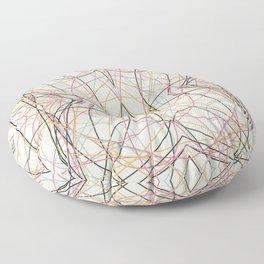 Filigree Clored Lines Etiainen Floor Pillow