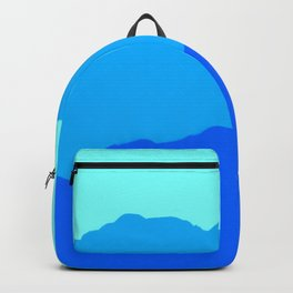 Minimal Mountain Range Outdoor Abstract Backpack