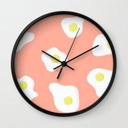 Sunny Side Up + Peach Wall Clock