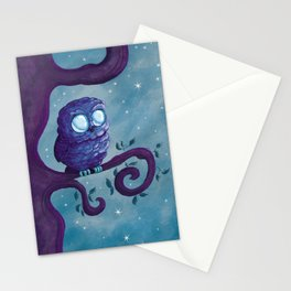 Owl & the stars Stationery Cards