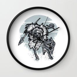 The wolf princess warrior Wall Clock