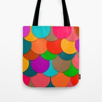 circles Tote Bags featuring Circles.  by Eleaxart