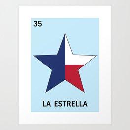 Texan Loteria - La Estrella Art Print