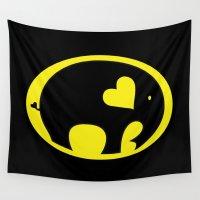bat Wall Tapestries featuring Bat Elephant by Elephant Love