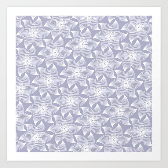 Pale flower pattern Art Print