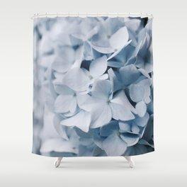 Blue Hydrangea Photography Shower Curtain