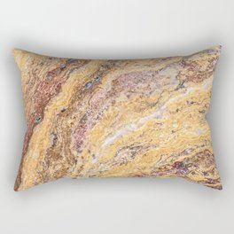 Melting Mustard Rock // Red Accent Natural Earth Textured Unique Cool Accent Decoration Rectangular Pillow