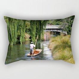 Punting on the Avon Rectangular Pillow