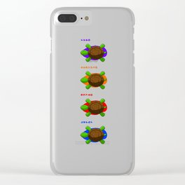 Four Baby Turtles Clear iPhone Case