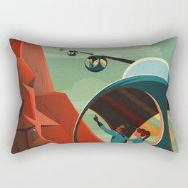 Vintage Adventure Travel Olympus Mons Rectangular Pillow