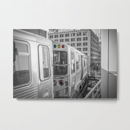 Brown Line Chicago Train El Train L Train Merchandise Mart Commute Windy City Metal Print