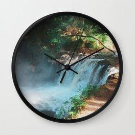 Kerosene Creek, Rotorua, New Zealand Wall Clock
