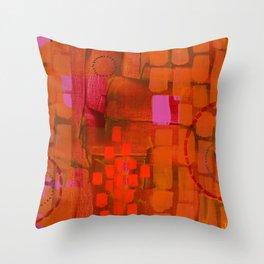 Brick Layers Throw Pillow
