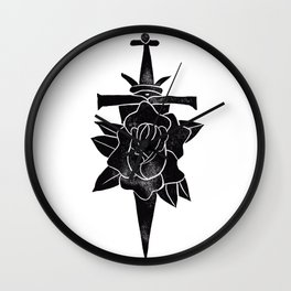 Rose & Dagger Wall Clock