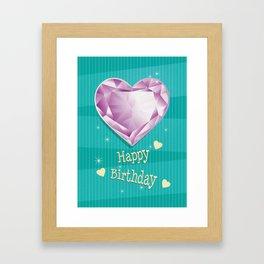 Birthstones June Alexandrite Heart Shaped Birthday Framed Art Print